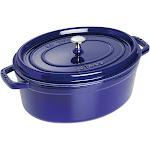 Staub Cast Iron 7-qt Oval Cocotte - Dark Blue