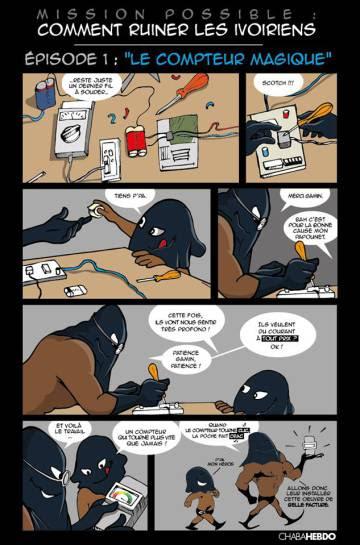 Cómic satírico titulado 'Cómo arruinar a los marfileños'