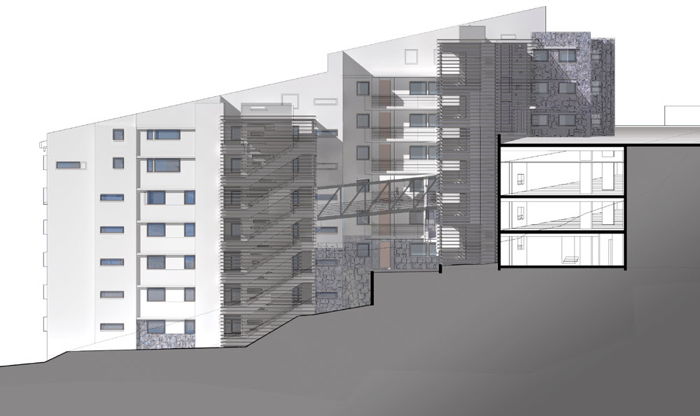 Edificio Alas del Cóndor - Marianne Balze R, arquitectura, vivienda-colectiva