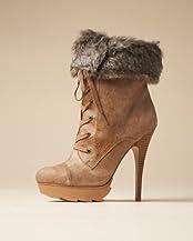 Jemma Lace-up Faux Fur Bootie