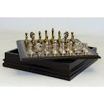 WorldWise Imports 95985 Metal Staunton in Wood Chest by John Hansen