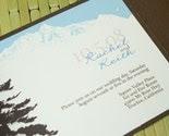 winter wonder - wedding invitation