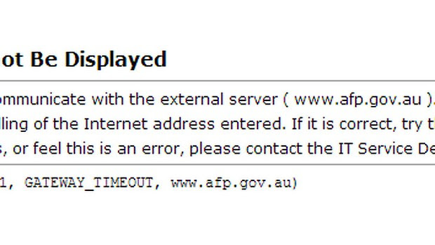 The AFP website crashed after an apparent cyber attack.