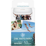 "HP ZINK Sticky-Backed Photo Photo Paper, 2"" x 3"" - 50 sheets"