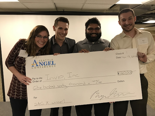 Startup Invio Wins $160,000 Grand Prize at Seattle Angel Conference X