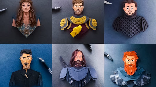 Robbin Gregorio et ses représetnations des perosnnages de Game of Thrones en Paper Cuts