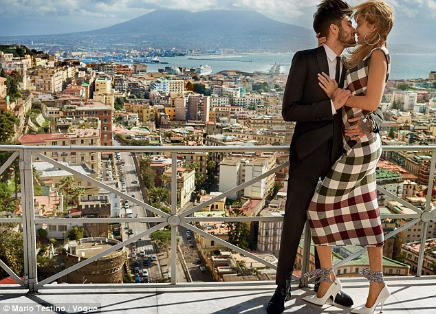 Look away now, Perrie! Gigi Hadid and Zayn Malik are the picture of loved-up bliss as they pack on the PDA in their first couple's photoshoot for US Vogue
