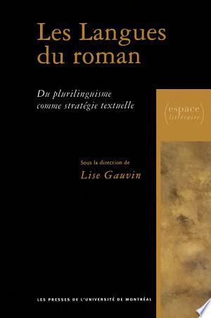 Telecharger Les Langues Du Roman Livre Pdf Gratuit