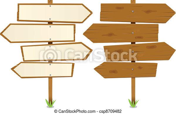 Sign Illustration vector cartoon of Arrows  of Illustration Wooden sign  rustic  Vector