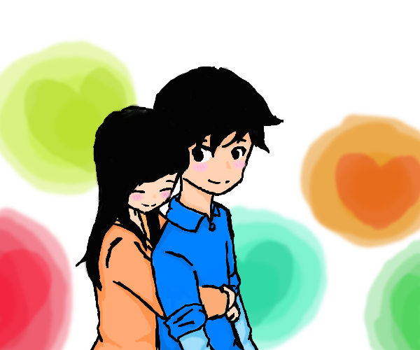 Free Cartoon Boy And Girl Hugging Download Free Clip Art Free Clip