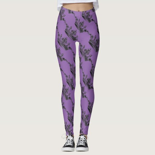 Purple Crown Sporty Athleisure Leggings