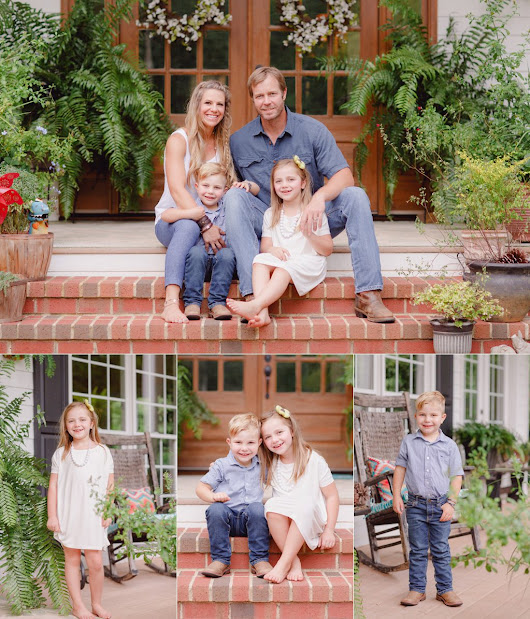 Oconne County, GA Professional Family Portraits at Home