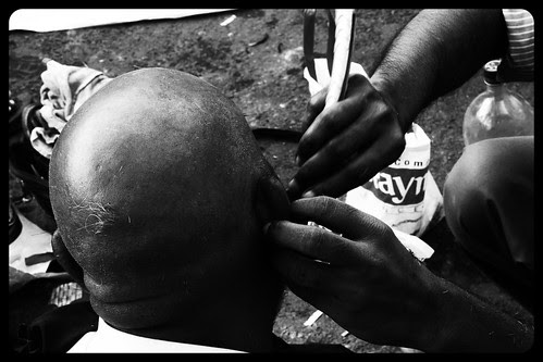 Ear Hair Shaving by firoze shakir photographerno1
