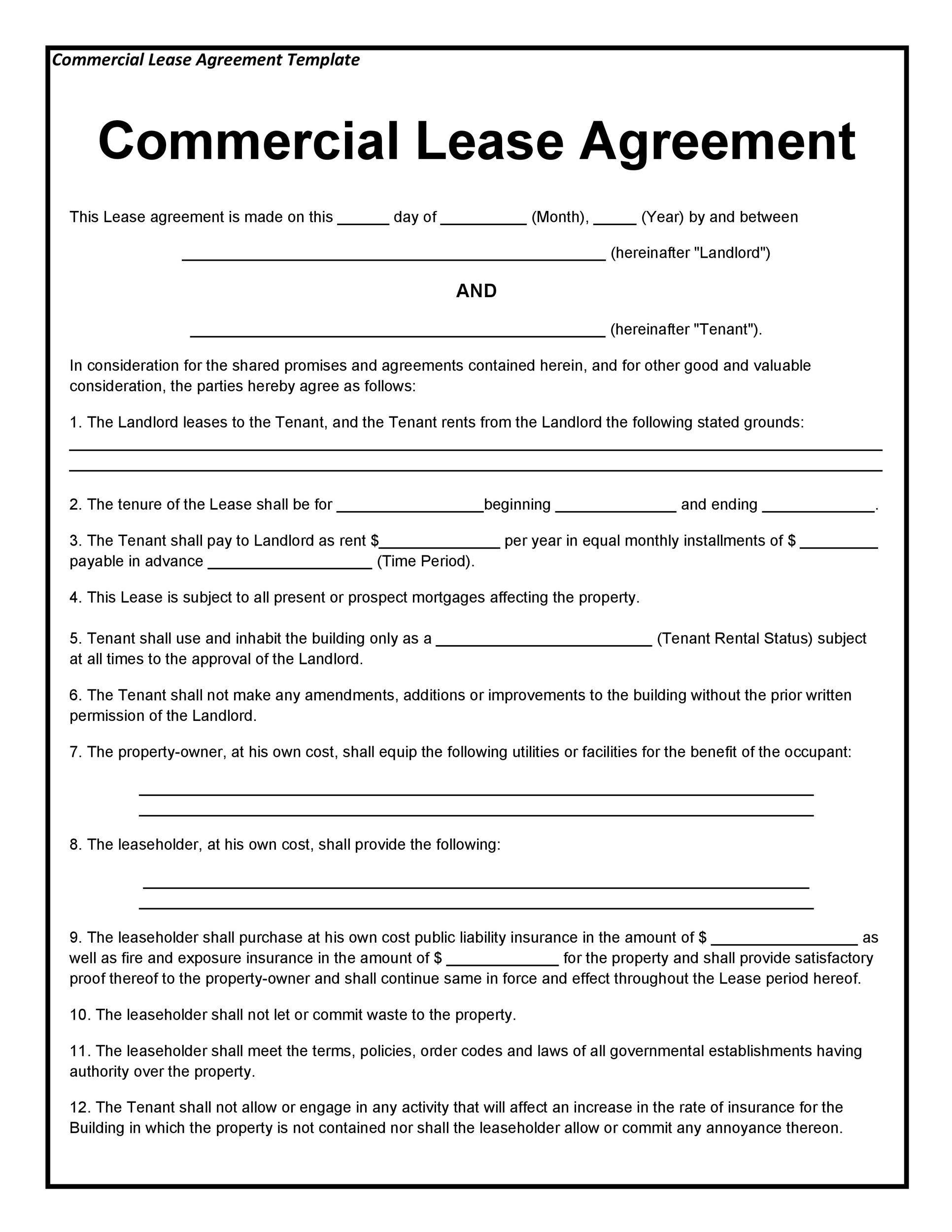Commercial Lease Agreement Template 04