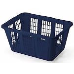 Rubbermaid Laundry Basket, Blue, 1.6 Bushel