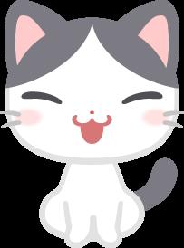 おすわりするぶち猫の無料ベクターイラスト素材 Picaboo ピカブー
