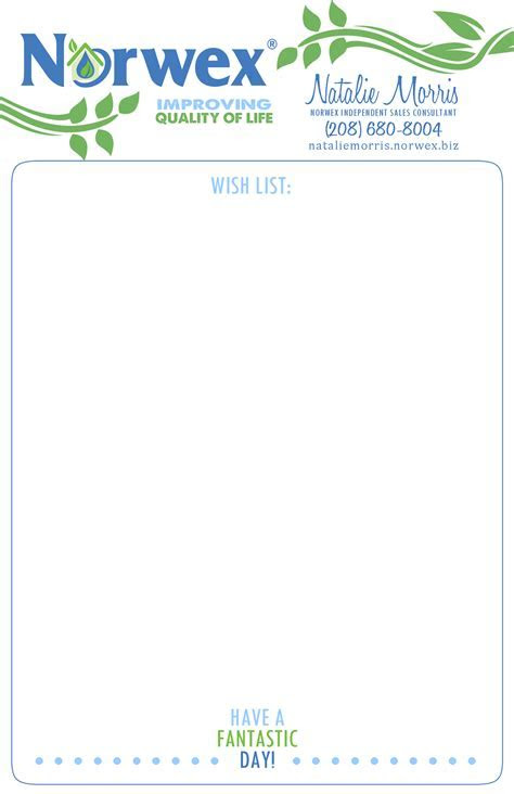 Absolute Appeal Design: Norwex   Business Stationery Set