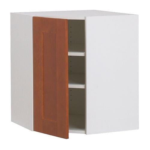 AKURUM Wall corner cabinet - birch effect, Ädel medium brown