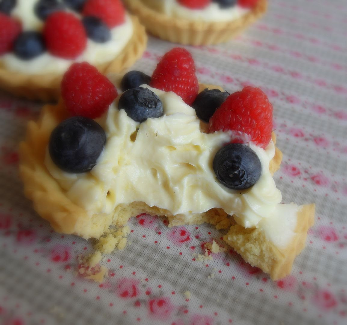 Simple Summer Berry and Lemon Tartlets