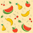 Free drawn outline fruit pattern vector art - Download Drawn vectors - 1489305