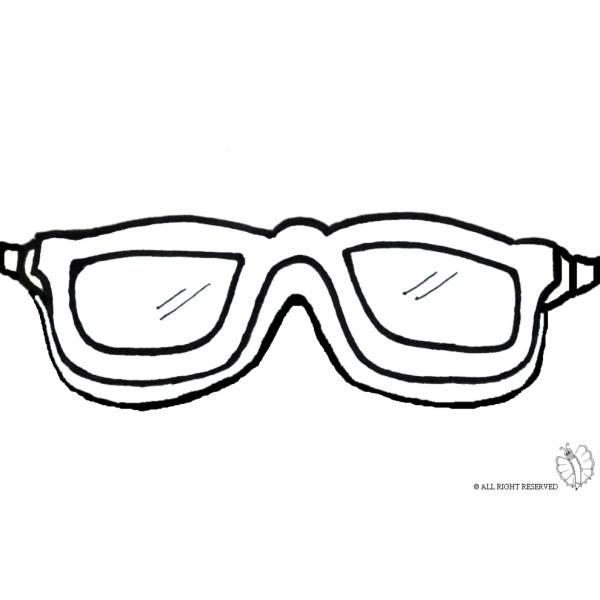 Disegno Di Occhialini Mare Da Colorare Per Bambini