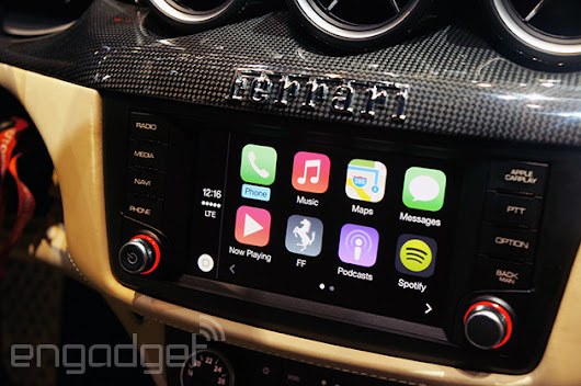 Hands-on with Apple's CarPlay: when Siri met Ferrari (video)