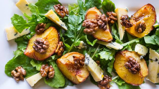 Recipes: Roasted peaches, peach and scallop skewers, and peach melba icecream
