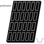 "Demarle Flexipan Air Perforated Mat, Loaf 4-3/4"" x 1-9/16"" x 1"" High, 24 Cavities   Bakedeco"