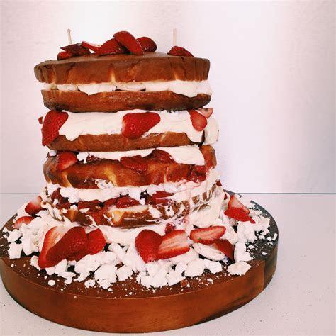 GoodFoodWeek's wedding cake   vanilla sponge with Eton