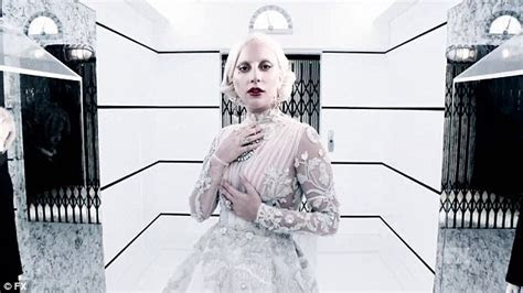 Lady Gaga models vintage lace as she dances in AHS: Hotel