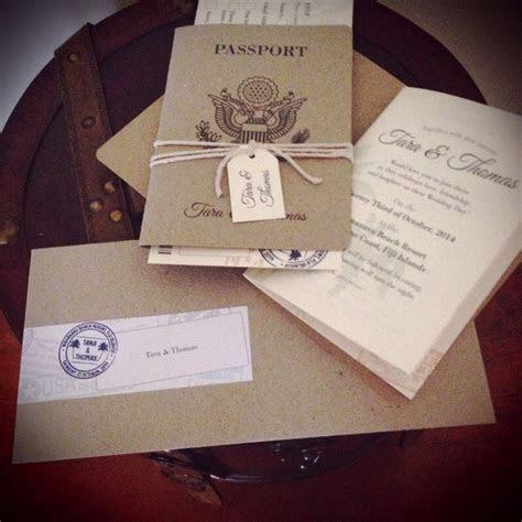 Destination Wedding invitation set with Kraft paper