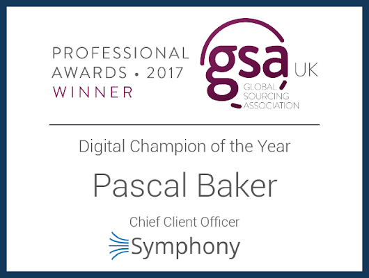 Symphony's CCO, Pascal Baker and Strategic Advisor, Andrew Burgess Win GSA Professional Awards - Symphony