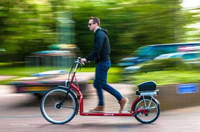 Bicicleta elétrica com esteira permite uma nova experiência de transporte