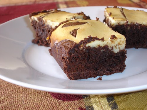 Plate of Cream Cheese Brownies