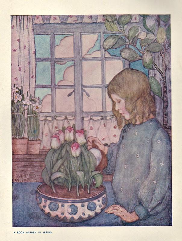 A Room Garden In Spring