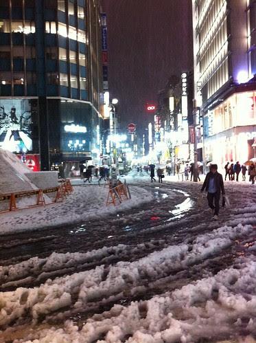 Shinjuku in snow