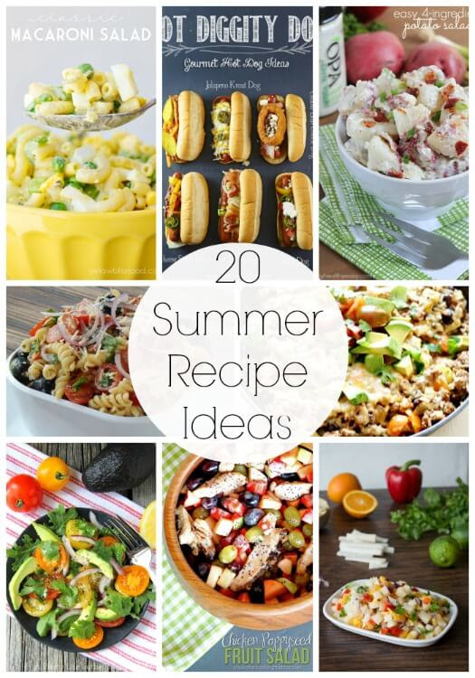 20 Recipes for Summer {Link Party Features} I Heart Nap Time | I Heart Nap Time - Easy recipes, DIY crafts, Homemaking