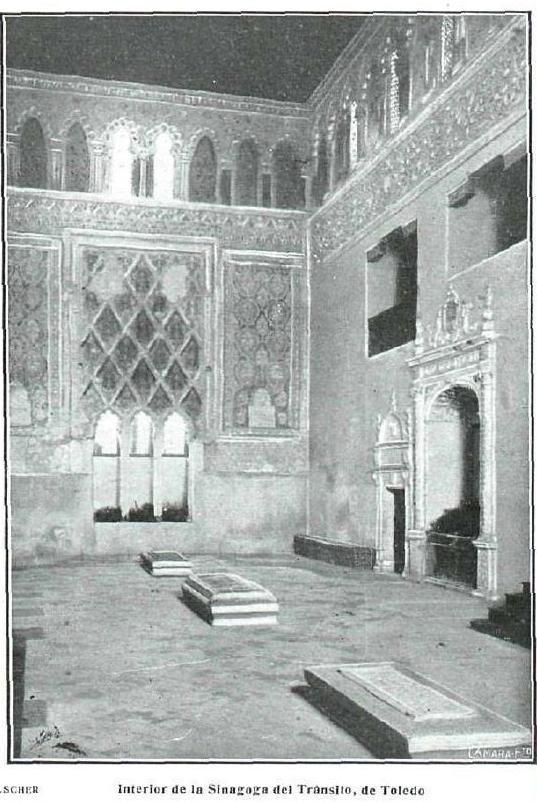 Sinagoga del Tránsito. Fotografía de Kurt Hielscher publicada en La Esfera en junio de 1916