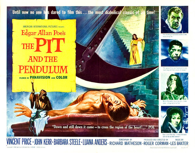 Reynold Brown - The Pit and the Pendulum (American International, 1961) half sheet