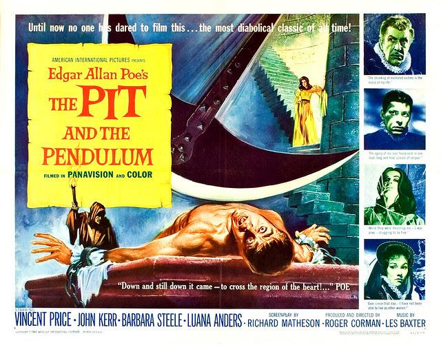 Reynold Brown - The Pit and the Pendulum (American International, 1961) half sheet