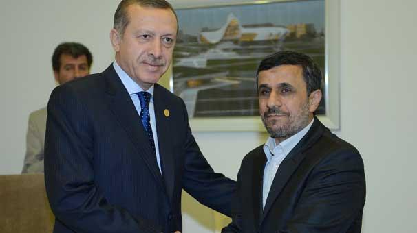 Başbakan Erdoğan Mahmud Ahmedinejad ile görüştü