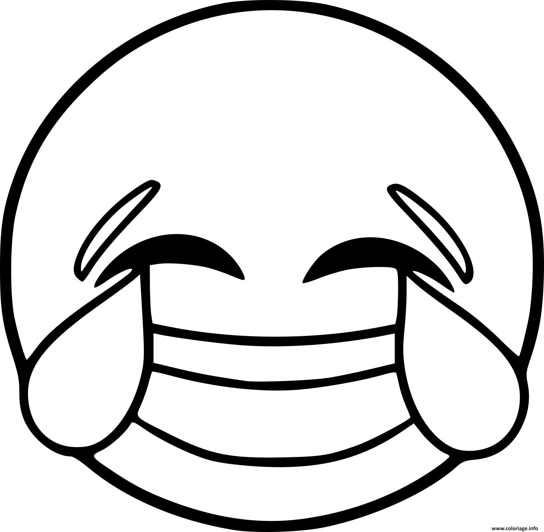 Coloriage Smiley Emoji Rire Jecoloriecom