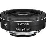 Canon - EF-S 24mm f/2.8 STM Standard Lens for Canon APS-C Cameras - Black