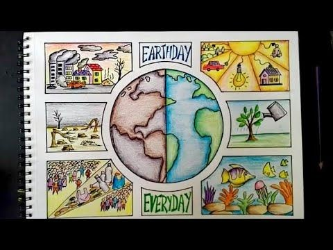 Competition Poster Making On Earth Day - Foto Kolekcija