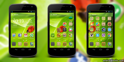 Miss Ladybug Android Theme For Hola Launcher