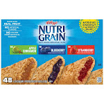 Kellogg's Nutri-Grain Soft Baked Breakfast Bar, Variety Pack, 1.3 oz, 48-count