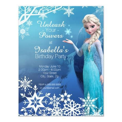 Personalized Frozen Invitations   CustomInvitations4U.com