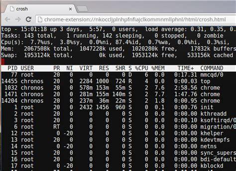 Useful Chrome OS Crosh Shell Commands   Chrome Geek