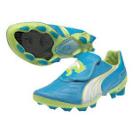 Puma v1.11 K FG Soccer Shoes (Dresden Blue) 8.5 By SoccerEvolution