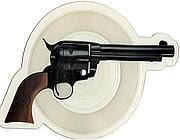 La cover a forma di pistola dei Guns 'n' Roses